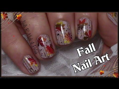 fall nail art design short
