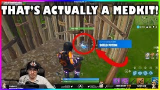 INFINITY SHIELDS AND MED KIT VISUAL GLITCH!!! - Fortnite highlights #187