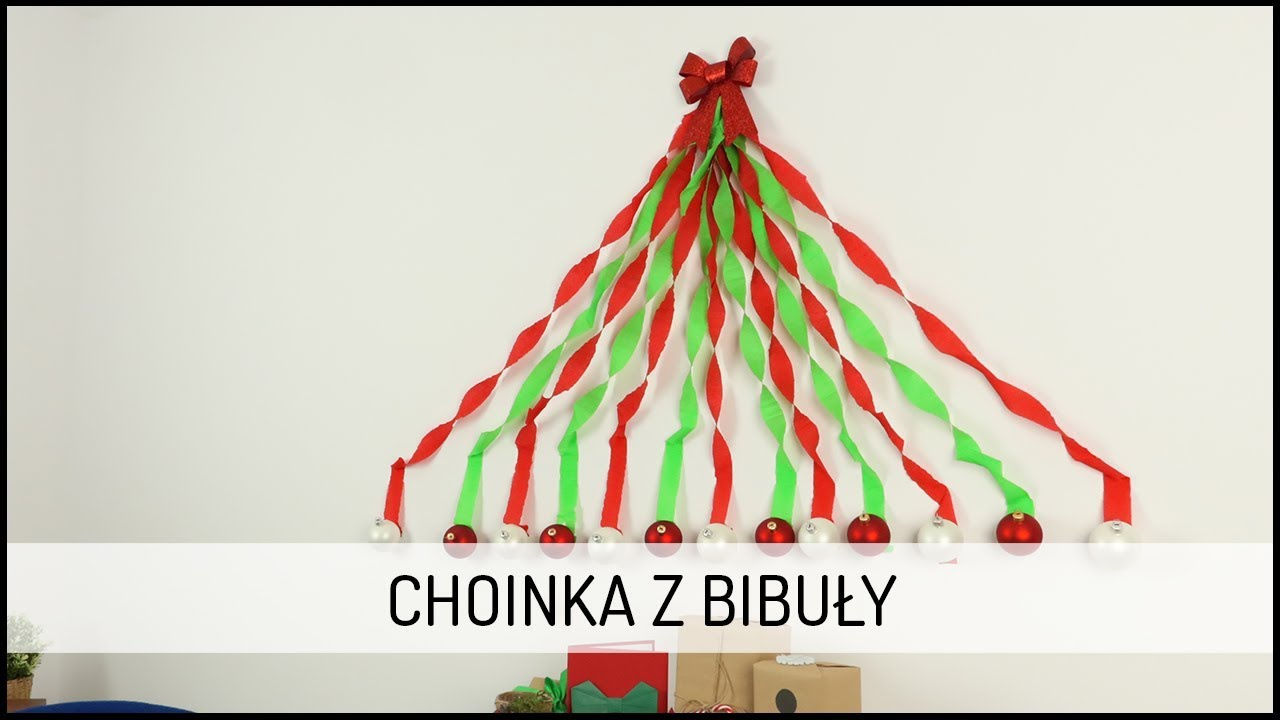 Choinka z bibuły | DIY DOMODI TV
