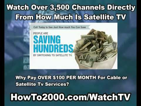 How Much Is Satellite TV | Watch Over 3500 Channels!