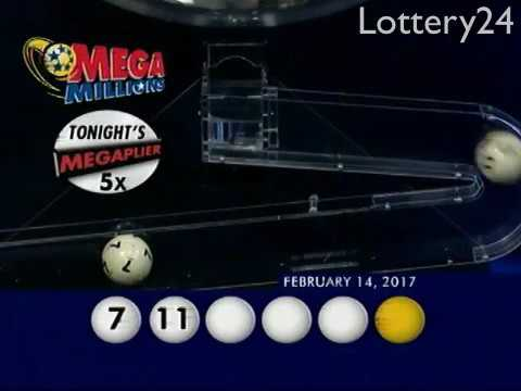 2017 02 14 Mega Millions Numbers and draw results