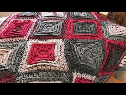 How To Crochet An Afghan: 🍰  Hypnotic Tiles