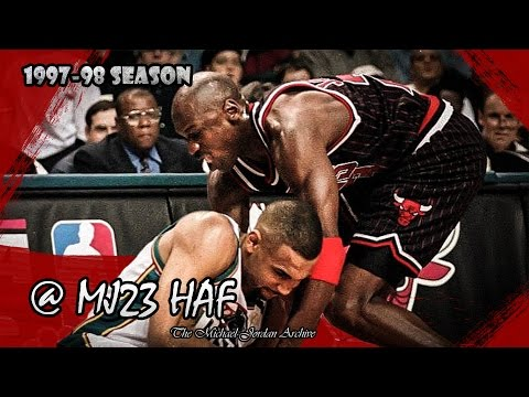 Michael Jordan vs Grant Hill Highlights Bulls vs Pistons (1998.01.03) - 65pts Combined!