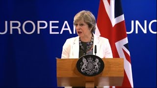 May says Brexit bill must wait until final deal with EU