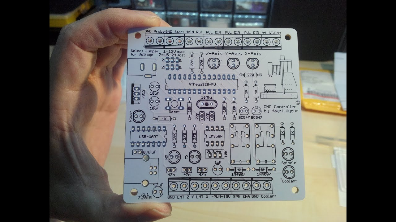 My first PCB which is going to be my Arduino Grbl CNC Controller made by  Elecrow com