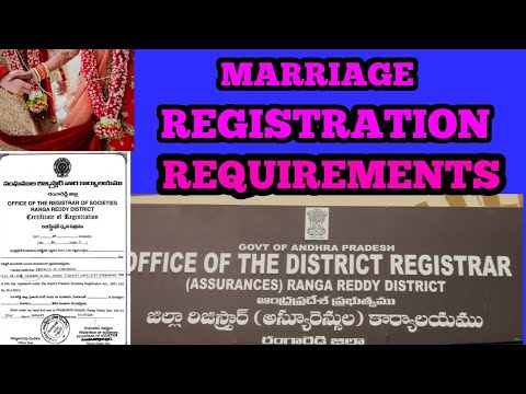 MARRIAGE REGISTRATION  REQUIREMENTS IN TELUGU