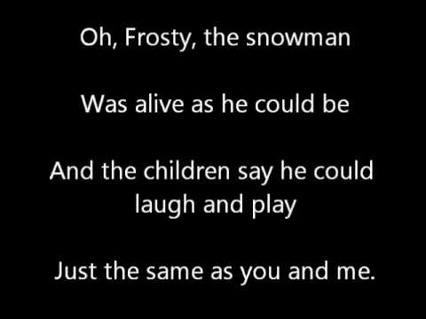 Frosty the Snowman Lyric Video 1st Grade East and West