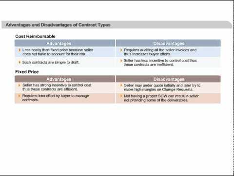 Types of Procurement Contracts used in Project Management PM Study Circle