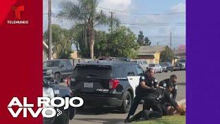 Graban a un policía golpeando a puños a una mujer hispana en California