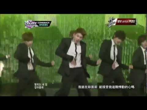 [繁中LIVE] 130110 BOYFRIEND - Standing with U + I YAH (M Countdown Comeback Stage)