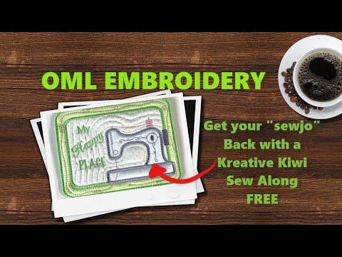 ITH In The Hoop Sewing Machine Coaster (Kreative Kiwi) Sew Along