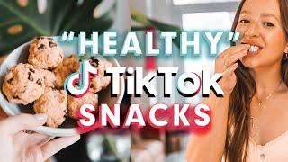 Testing 5 &quothealthy&quot TikTok snacks &amp recipes!