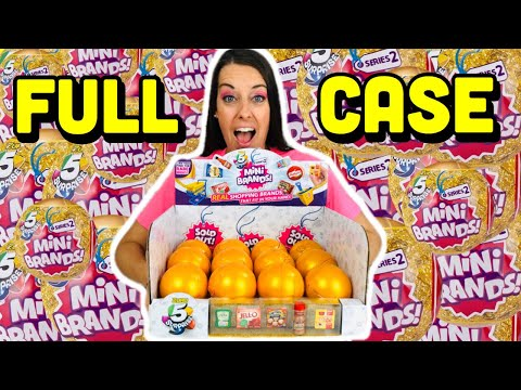Mini Brands SERIES 2 Unboxing!! FULL CASE of Series 2 Mini Brands GOLD BALLS! We find GOLD & RARES!!