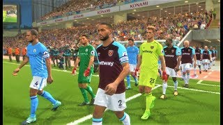West Ham vs Manchester City 2018 | Full Match | PES 2018 Gameplay HD