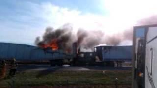 Firey Crash Between Semi