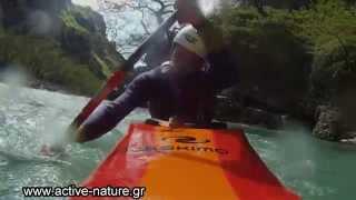 Araxthos kayak whitewater