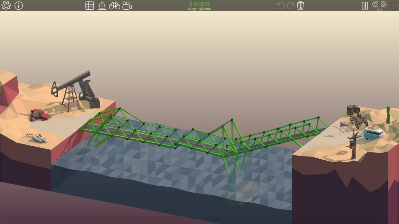 poly bridge level 2 9 youtube. Black Bedroom Furniture Sets. Home Design Ideas