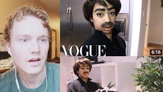 Reacting to Liza Koshy's 73 Questions with Jet Packsinski | Vogue Parody