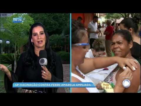 Vacinação contra febre amarela é ampliada em São Paulo