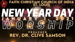 FCCIndia New Year Day Live Worship | 01/01/2021 | FCCI St. Louis