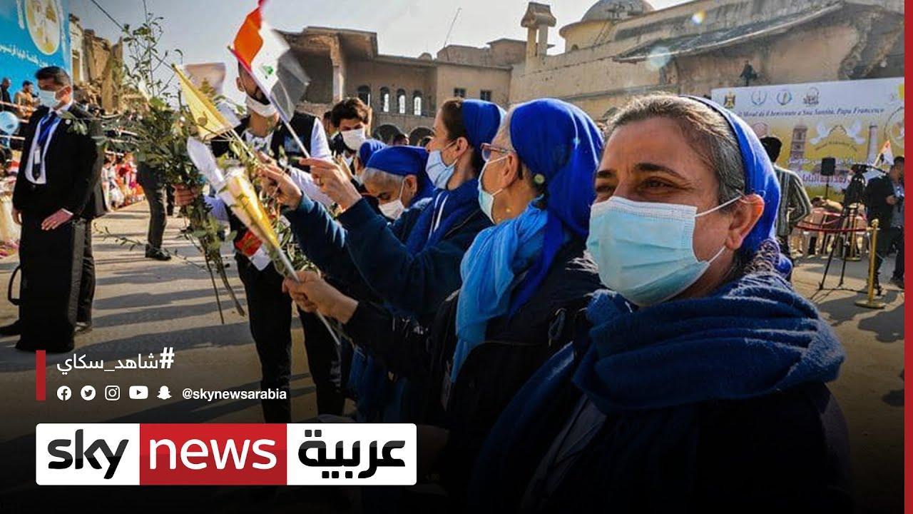 البابا فرنسيس يزور كنيسة الطاهرة في الموصل  - نشر قبل 6 ساعة