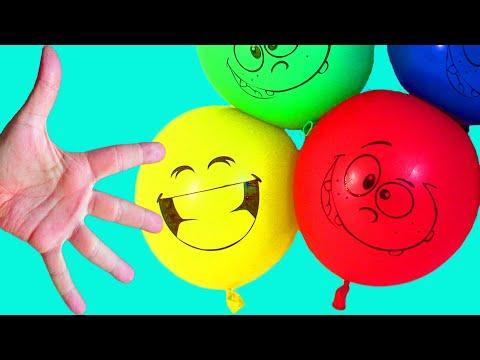 Залипательная Песня про шарики Семья пальчиков Лопаем цветные Воздушные шарики с водой
