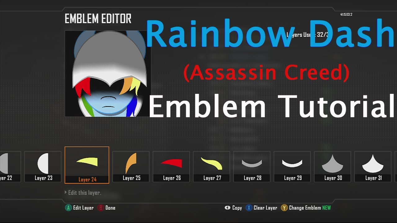 Call of Duty: Black Ops 2- Rainbow Dash (Assassin Creed ... H2o Delirious Emblem