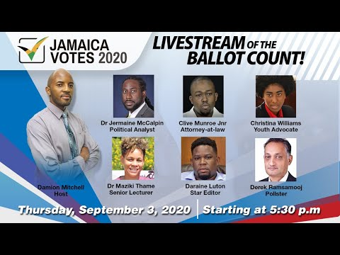 Jamaica Elections: Livestream of the ballot count