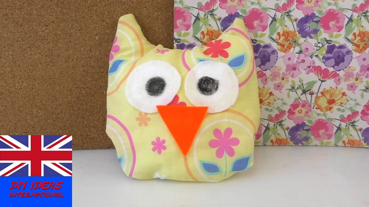 Diy No Sew Owl Pillow: No sew OWL pillow   SELFMADE OWL TEDDY without sewing   TUTORIAL    ,