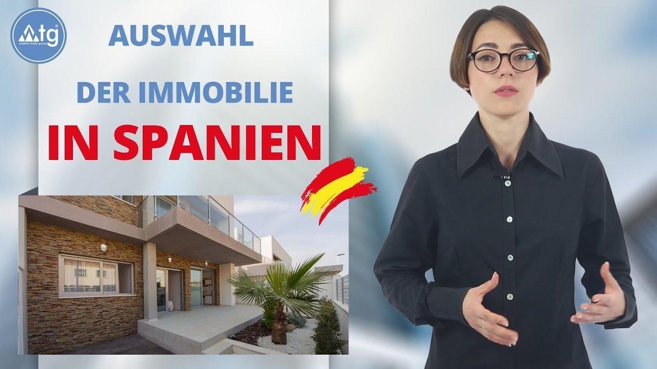 Immobilienkauf in Spanien, auswahl der Immobilie
