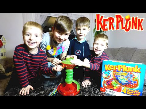 Kerplunk Game Family Fun For Kids KerPlunk With Egg Surprise Toy LeancaBros Family Game Board Fun