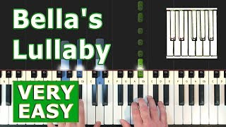Bella's Lullaby - Piano Tutorial VERY EASY - Twilight - Sheet Music (Synthesia)