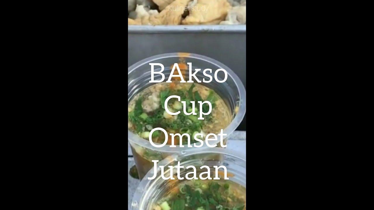 BAKSO cup..usaha kecil omset jutaan - YouTube