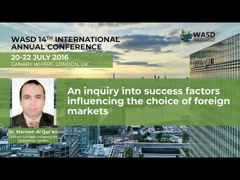 An inquiry into success factors influencing the choice of foreign markets
