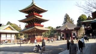 成田山新勝寺。その広大さにびっくり。豆まきには、横綱 稀勢の里 初め...