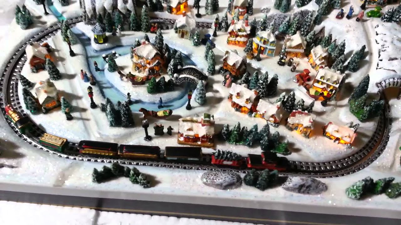 kinkade christmas village miniature youtube - Miniature Christmas Village