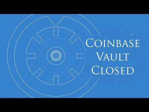 Coinbase Vault Closes Its Doors