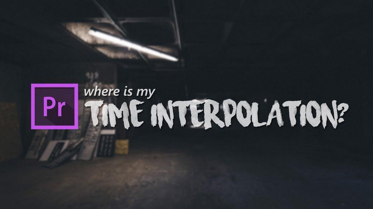 Time Interpolation di Adobe Premiere Pro CC 2015