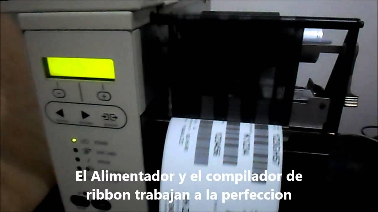 Zebra 105 Sl 203 Dpi Rewind Youtube