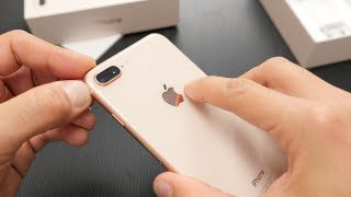 iPhone 8 Plus all-new gold unboxing  [Greek]