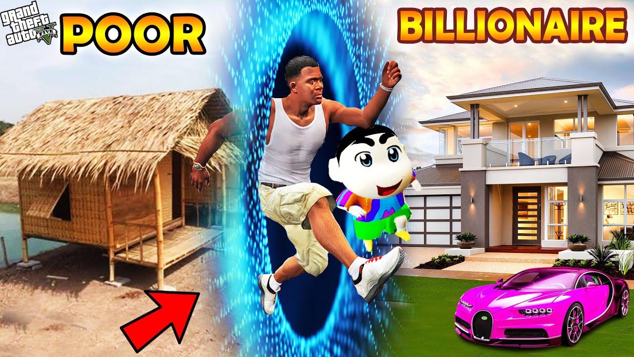 GTA 5 : Shinchan & Pinchan Travel To Billionaire World Through Portal in GTA 5 ! (GTA 5 mods)