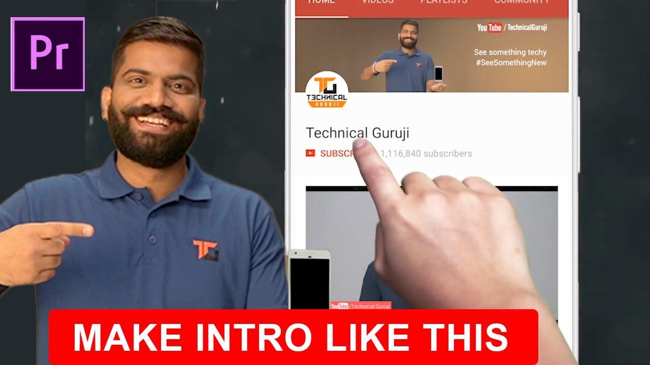 How To Make Intro Like Technical Guruji Subscribe Intro Bell Create Logo