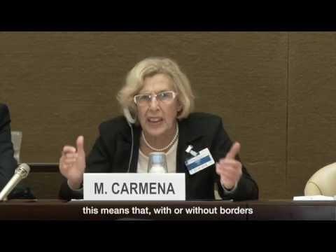 Mayor of Madrid Manuela Carmena, on the need to integrate migrants into local agendas