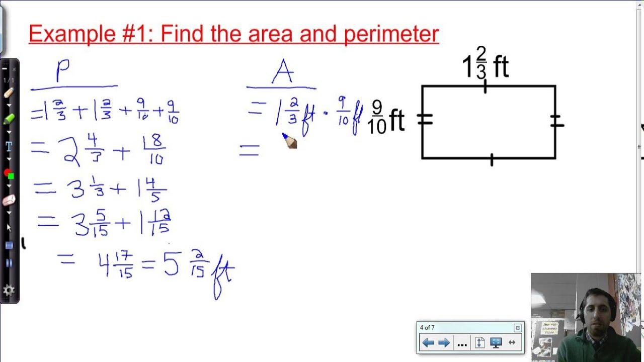 19 Basic Perimeter And Area Calculations 6th Grade