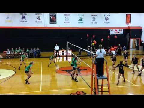 Kristyn Arvizo 8 Green Fallon Volleyball