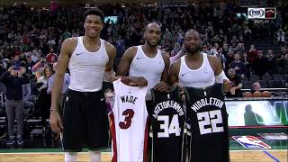 March 22, 2019 - FSS - Dwyane Wade, Giannis Antetokounmpo, Khris Middleton Jersey Exchange (@ Bucks)