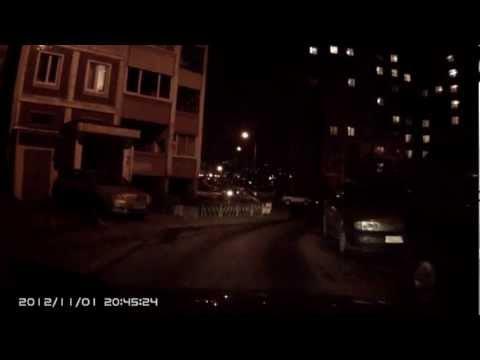 Ночная съемка видеорегистратора SeeMax DVR RG 300