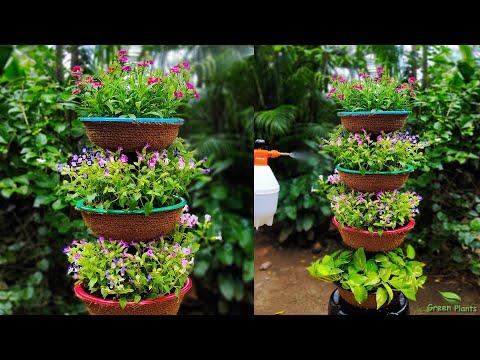 Vertical Garden Ideas for Your Small Space | Small Garden Ideas | Flower Garden Tower//GREEN PLANTS