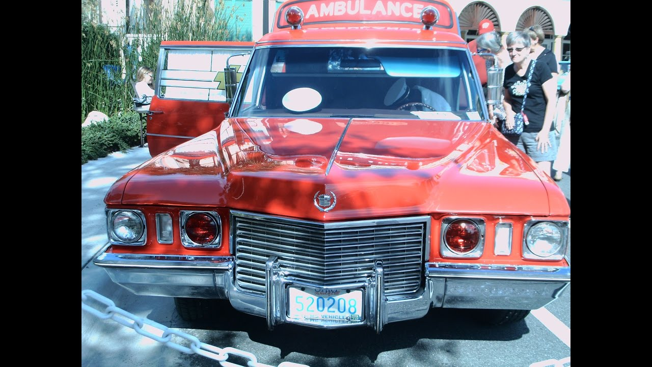 1972 Cadillac S and S High Top Ambulance Red TheVillages041616