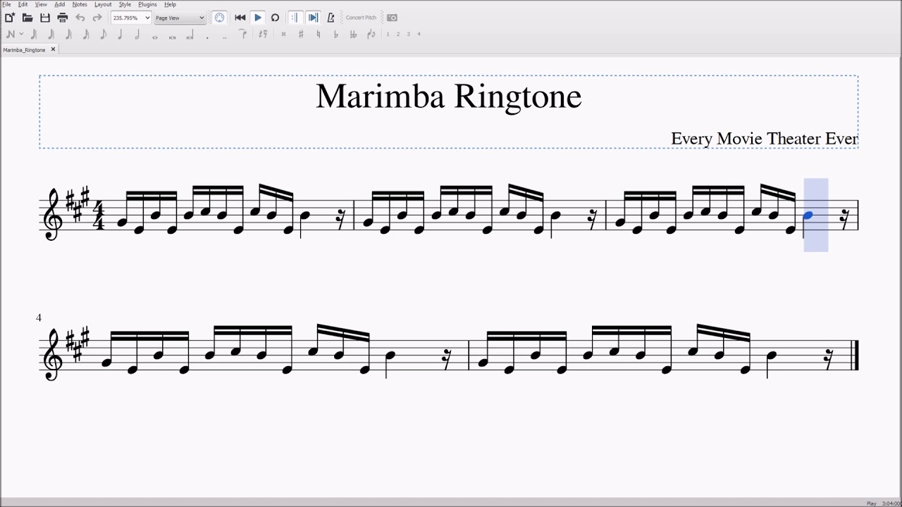 opening ringtone notes